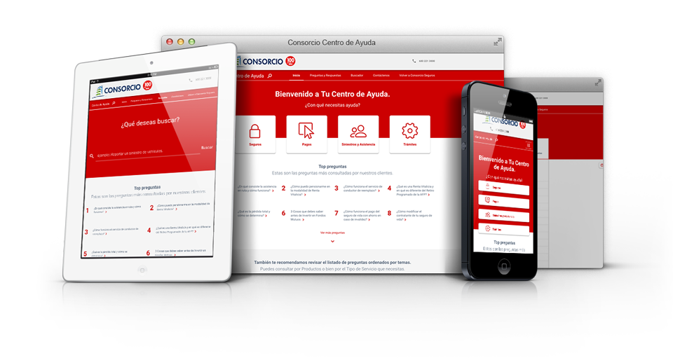 responsive ui/ux design showing the website on an iPad, desktop and iPhone.