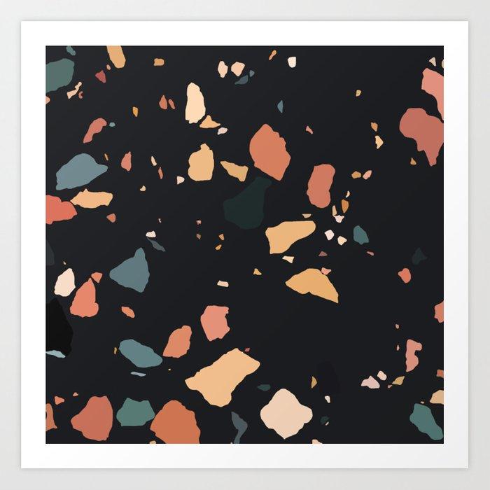 dark terrazzo marble prints - badgedealers - Web Development, Graphic Design and Illustration Studio from Bergamo – Milano, Italia.
