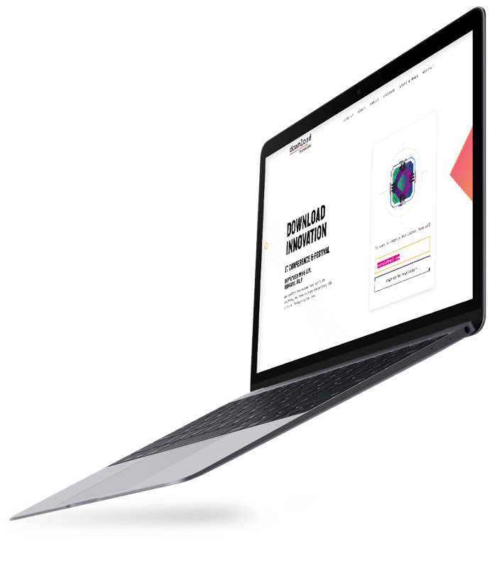 Website Design being displayed on a MacBook