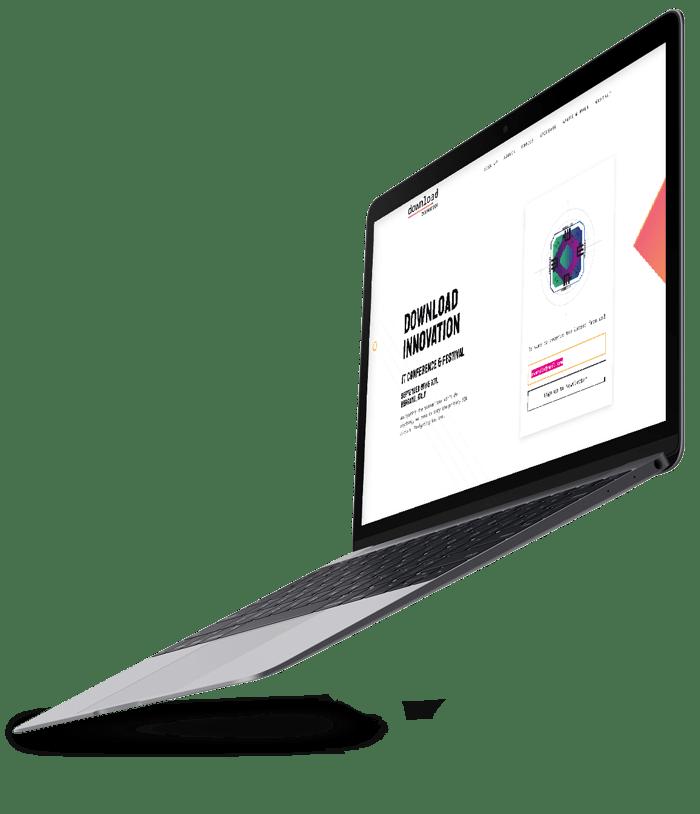 Website Design being displayed on a MacBook