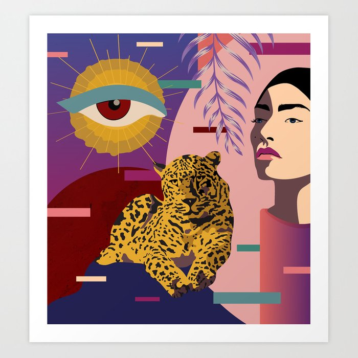 the big eye is watching leopard abstract prints - badgedealers - Web Development, Graphic Design and Illustration Studio from Bergamo – Milano, Italia.