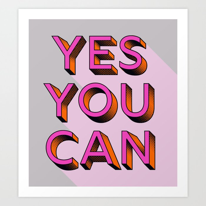 yes you can typography prints - badgedealers - Web Development, Graphic Design and Illustration Studio from Bergamo – Milano, Italia.