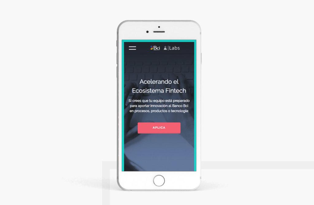 Bci Labs website design and development - ui/ux