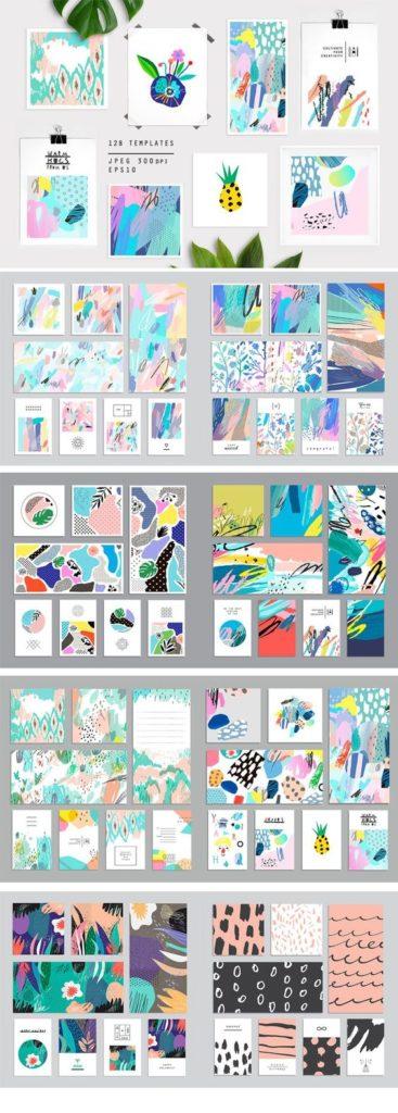 trendy graphic set illustrations - badgedealers - Web Development, Graphic Design and Illustration Studio from Bergamo – Milano, Italia.