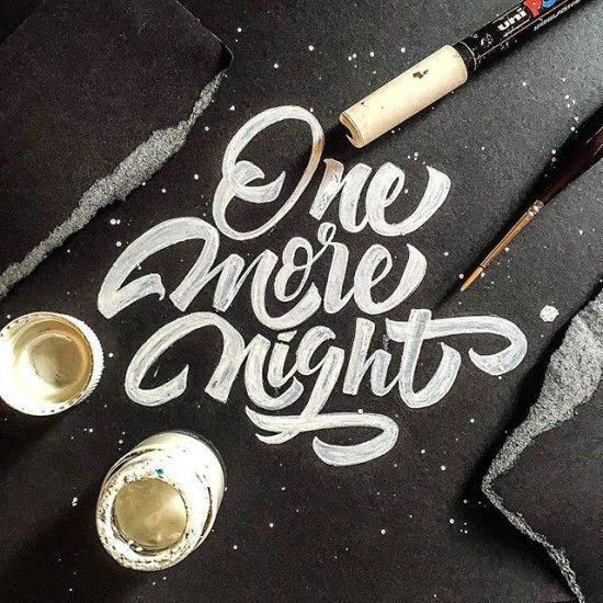 Simple hand lettering style black on white