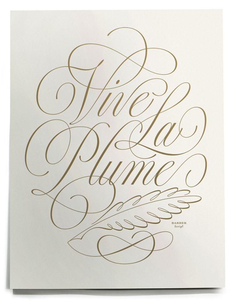 Simple hand lettering style flourishes and swirls