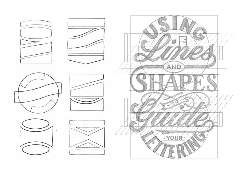 simple hand lettering styles grid composition 2 - badgedealers - Web Development, Graphic Design and Illustration Studio from Bergamo – Milano, Italia.